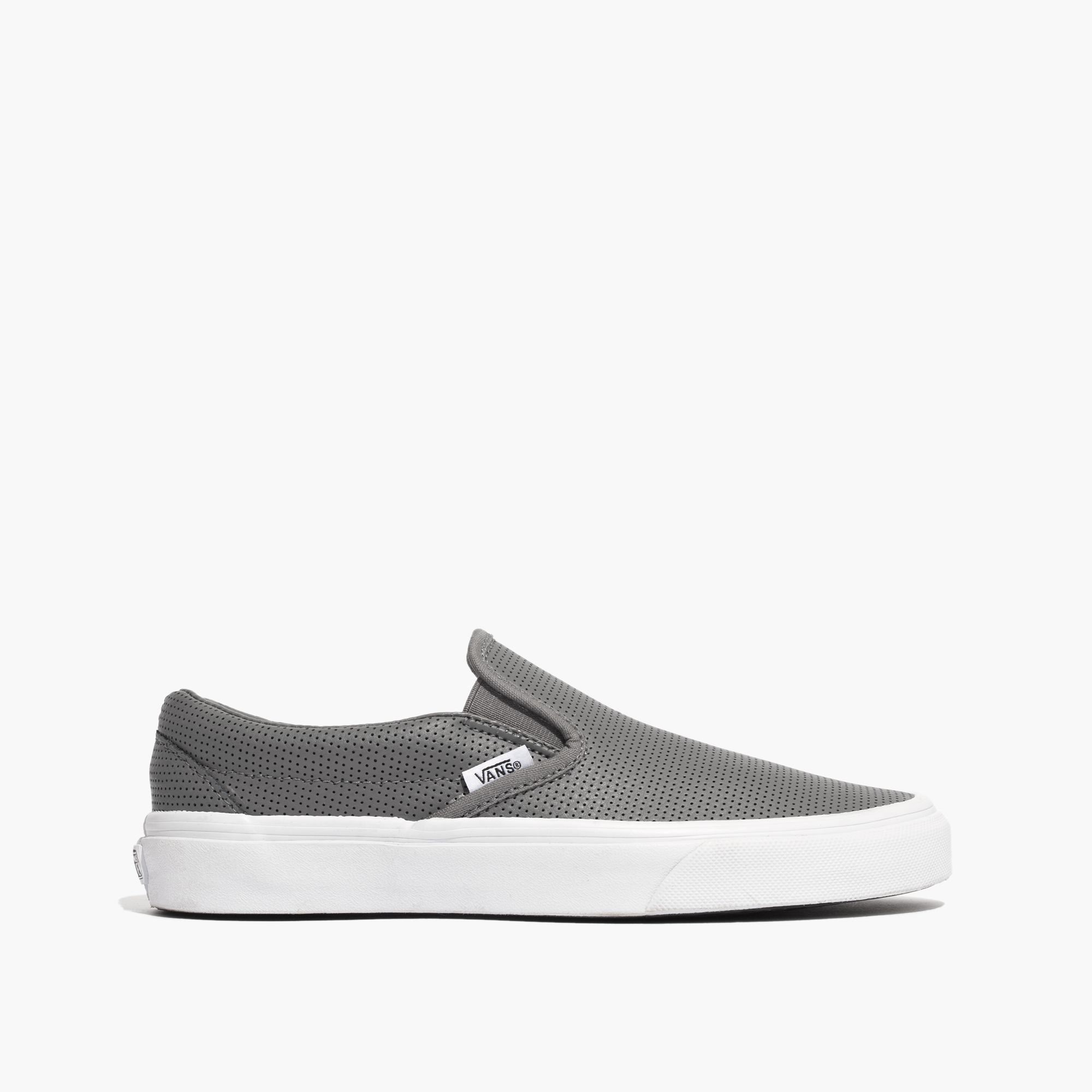 aa575f21 Madewell Gray Vans® Classic Slip-on Sneakers In Grey Perforated Leather