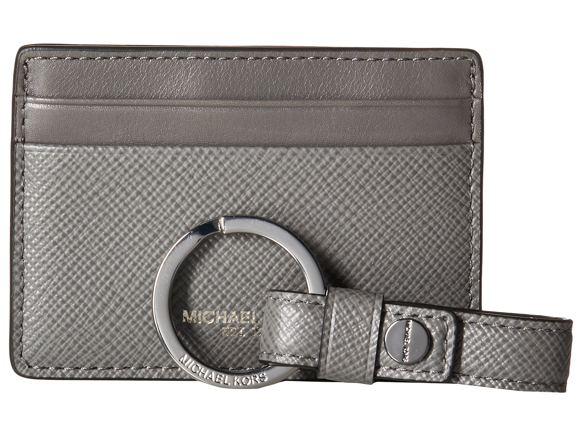3d4a18d0c832 Men's Gray Box Sets Cross Grain Leather Card Case W/ Key Fob Set