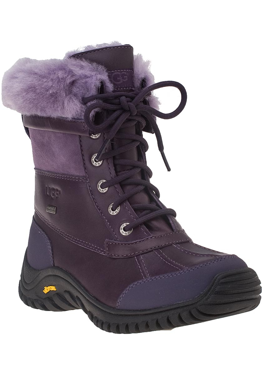 Ugg Adirondack Ii Snow Boot Blackberry Wine Leather in Purple | Lyst