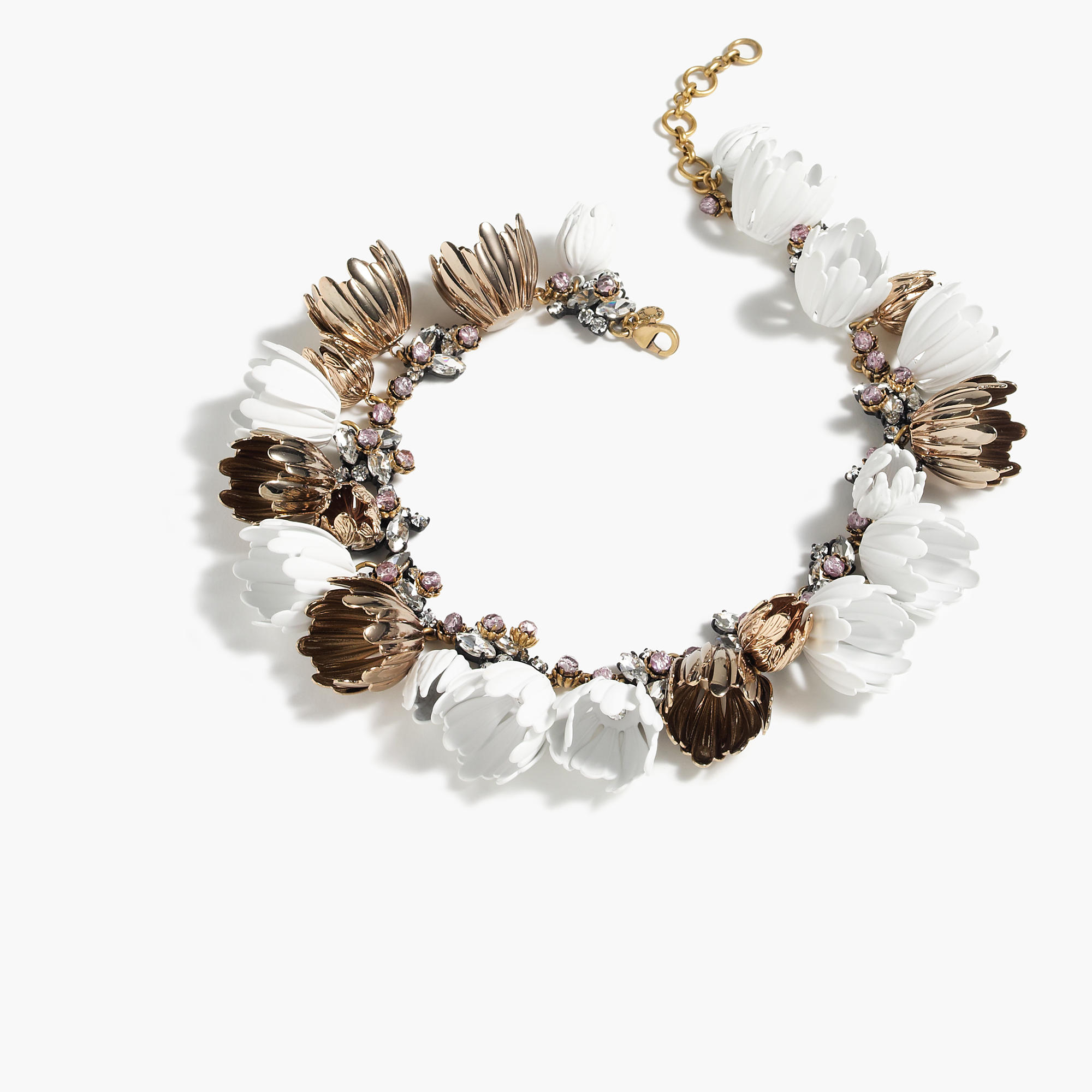 J.Crew Garden Party Necklace in White