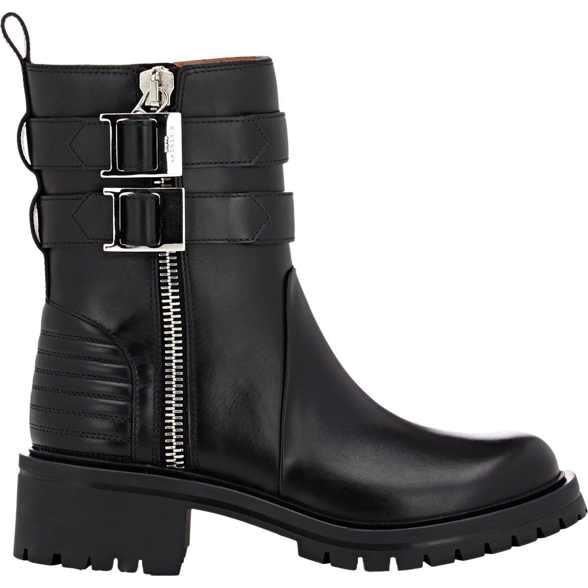 Givenchy Double Zip Moto Boots In Black Lyst