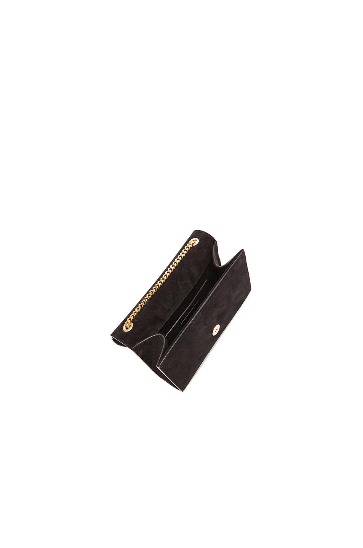 d138adc1b8 Saint laurent Small Suede  u0026amp  Fringes Monogram Chain Bag in Black
