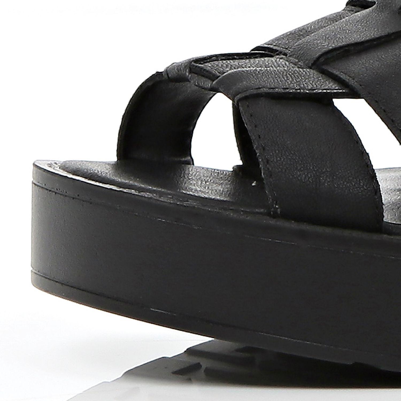 db4706744bb River Island Black Chunky High Leg Gladiator Sandals in Black - Lyst