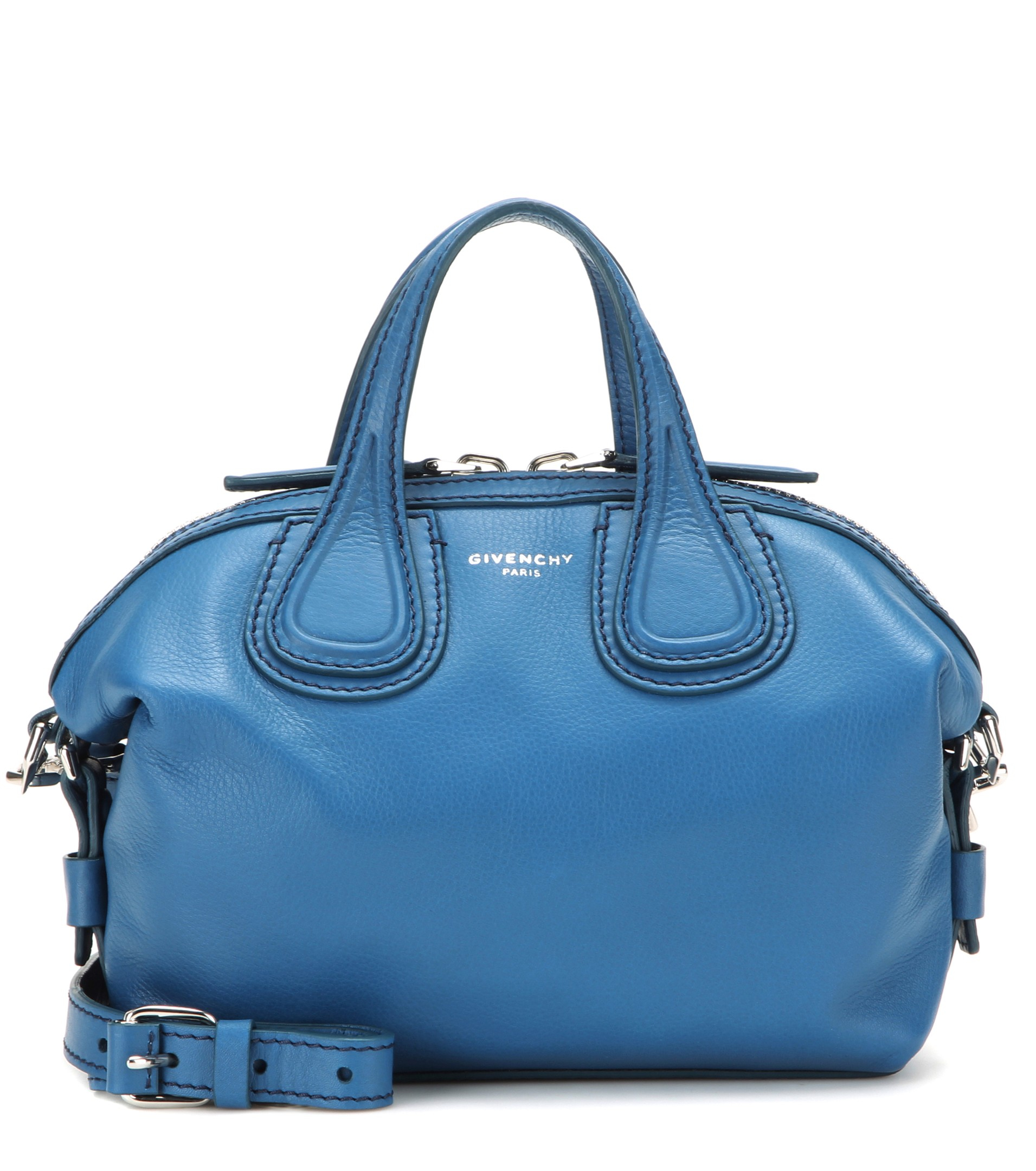 c3d89e0015db Lyst - Givenchy Nightingale Micro Leather Shoulder Bag in Blue