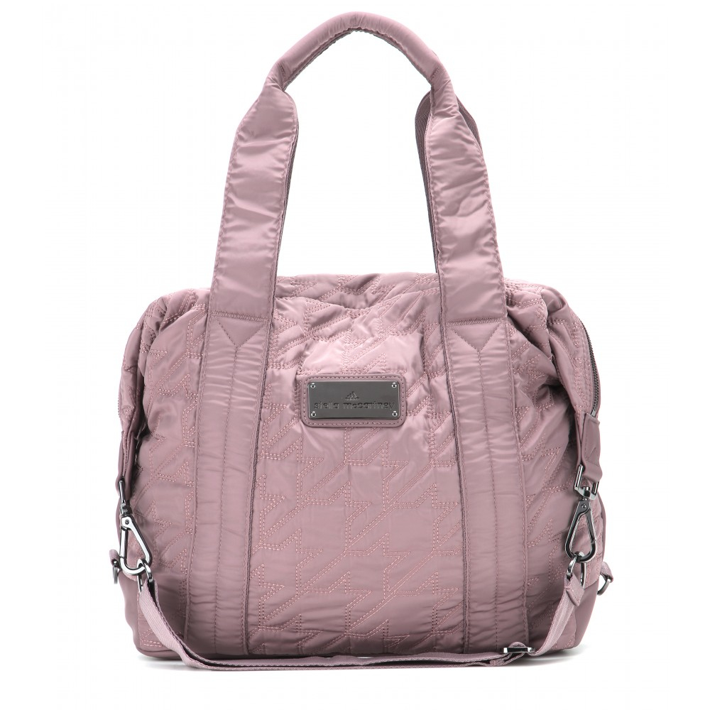 lyst adidas by stella mccartney quilted gym bag in pink. Black Bedroom Furniture Sets. Home Design Ideas