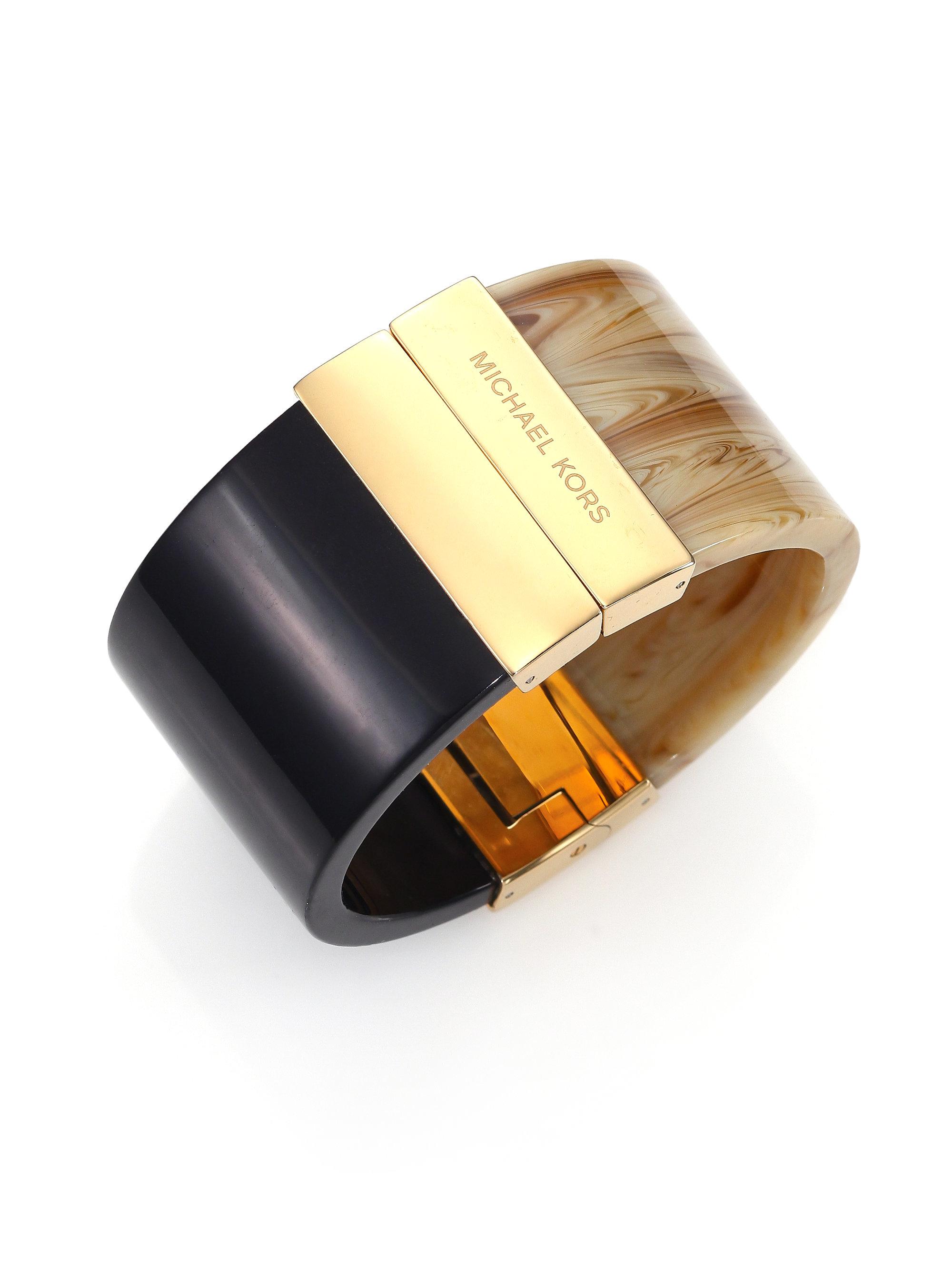d13ba9643c26 Michael Kors Colorblock Cuff Bracelet in Metallic - Lyst