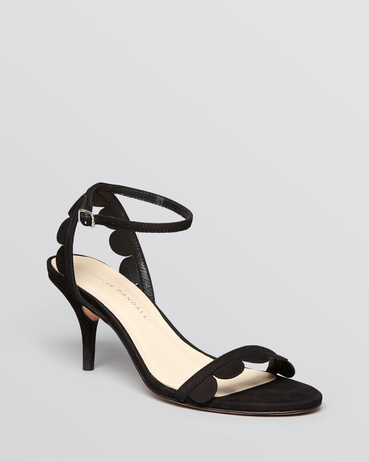 42a1cf3aff0 Lyst - Loeffler Randall Ankle Strap Sandals Lillit Scallop Mid Heel ...