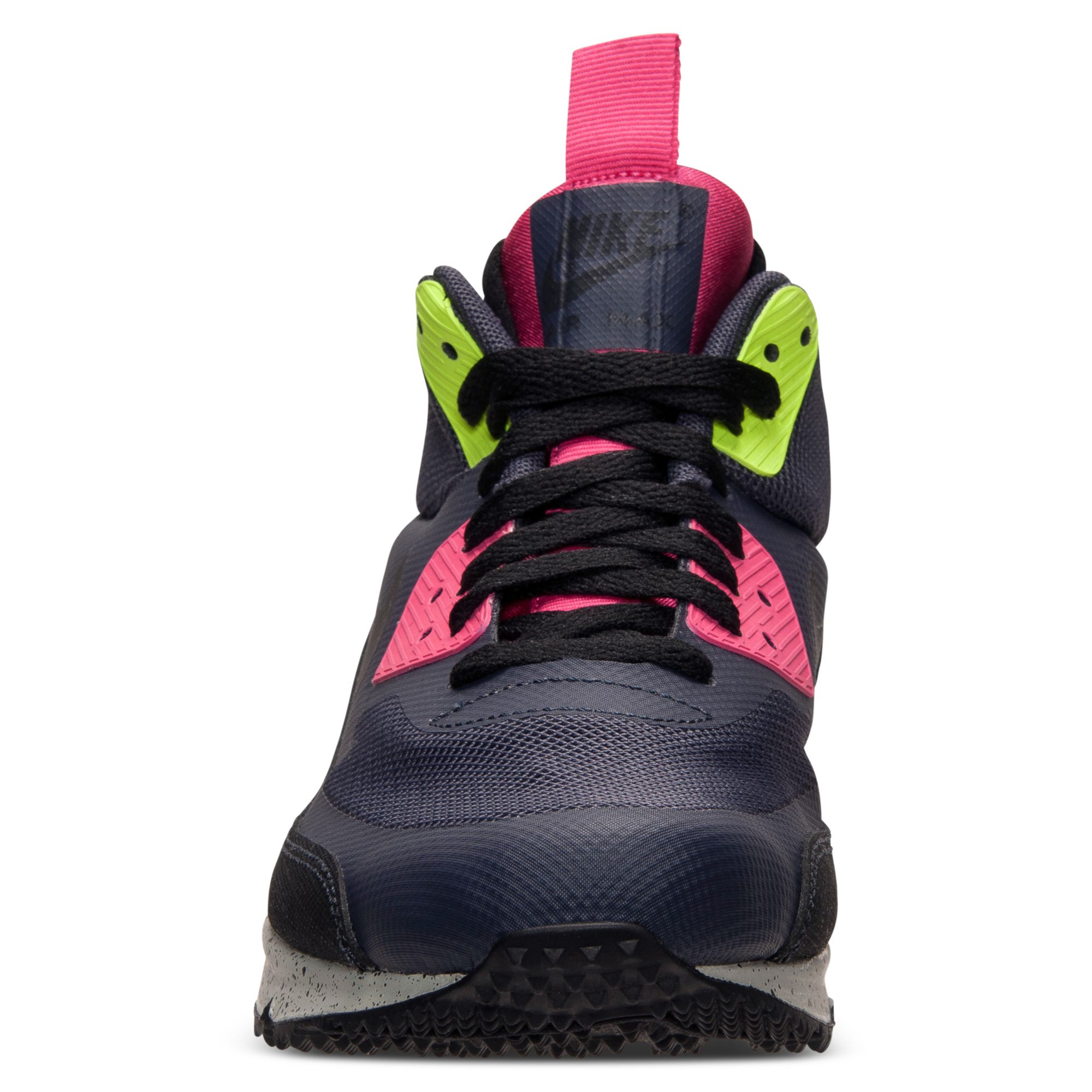 online store 1336d 3f16f Nike Black Mens Air Max 90 Mid No Sew Running Sneakers From Finish Line for  men