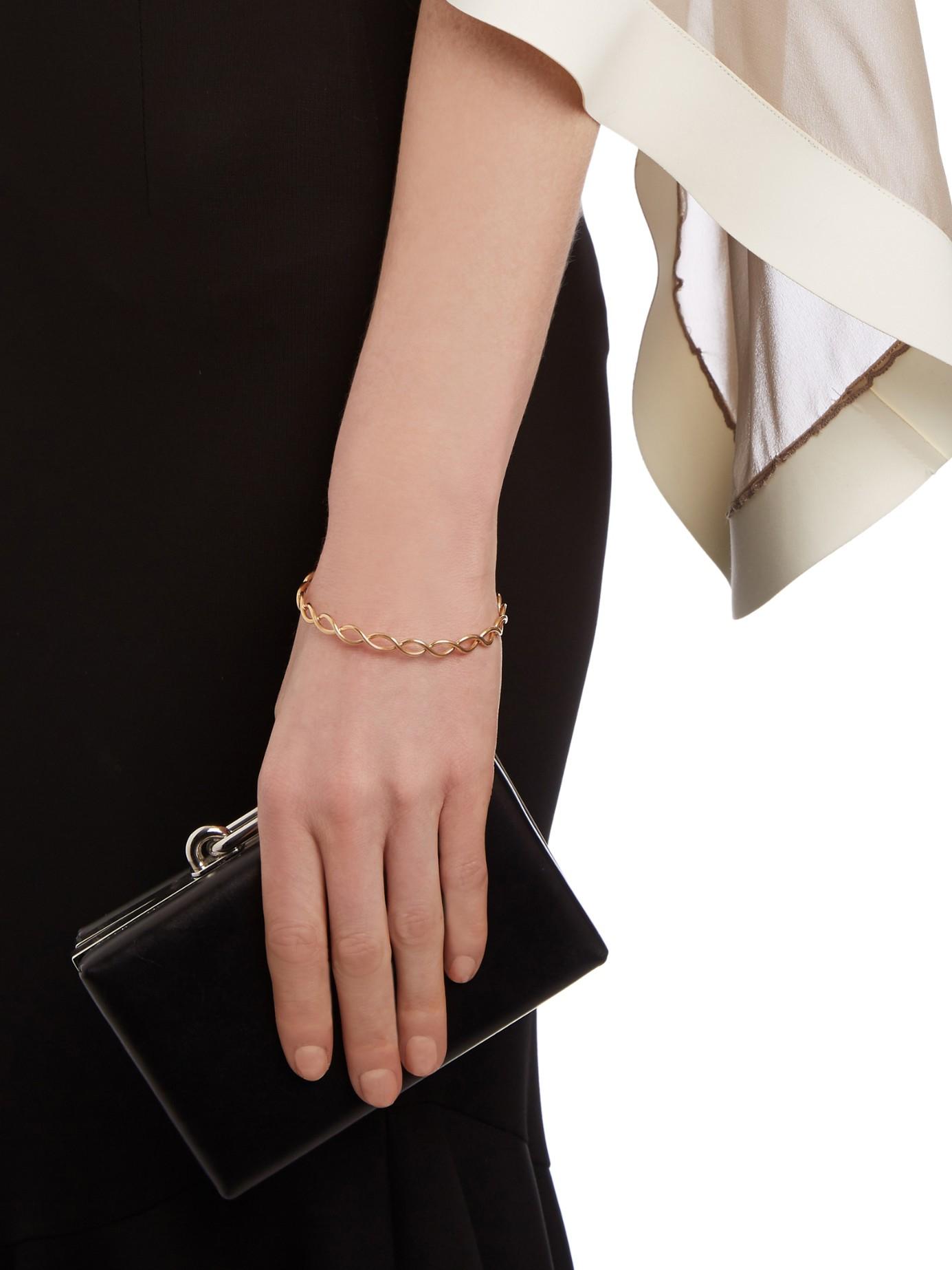 Irene Neuwirth Rose-gold Braided Bangle in Rose Gold (Metallic)