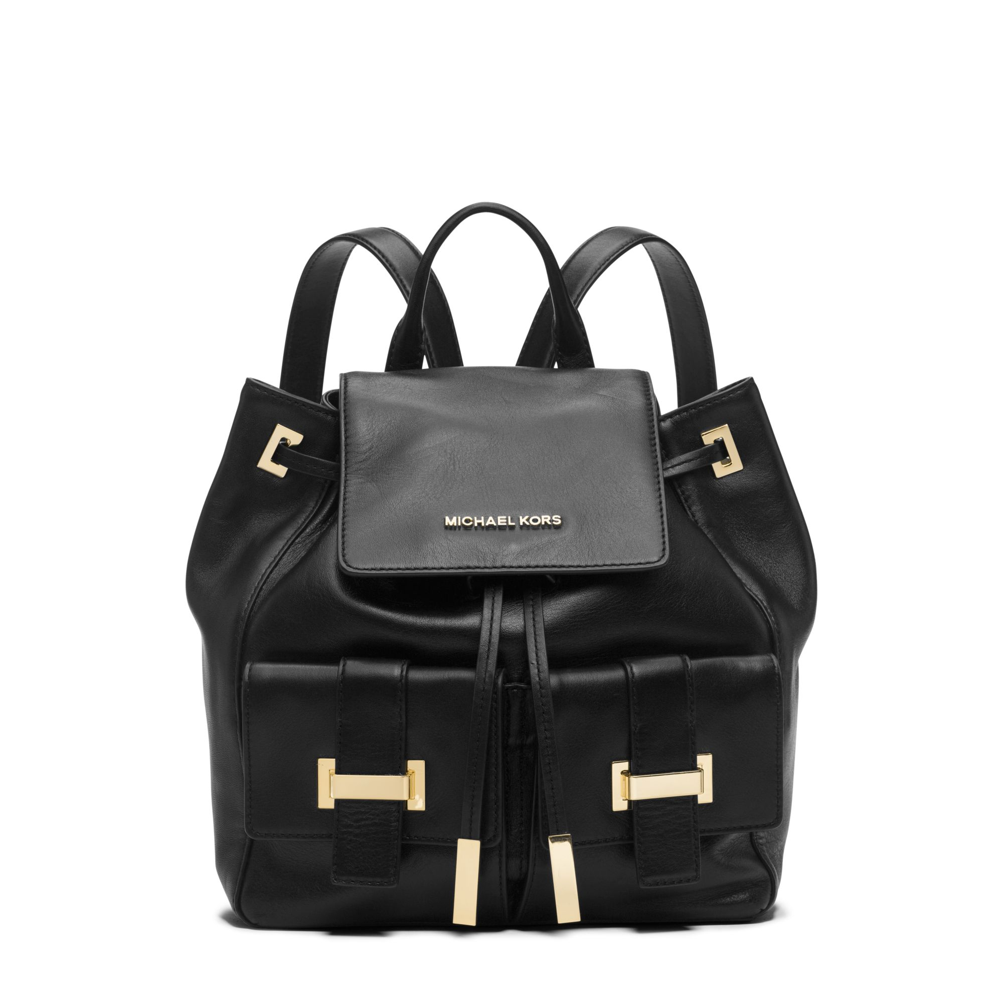 08b5d3ac5c0e ... large canvas shoulder bag d0866 7d520 official lyst michael kors marly  drawstring leather backpack in black 8eeba 1f7f7 ...