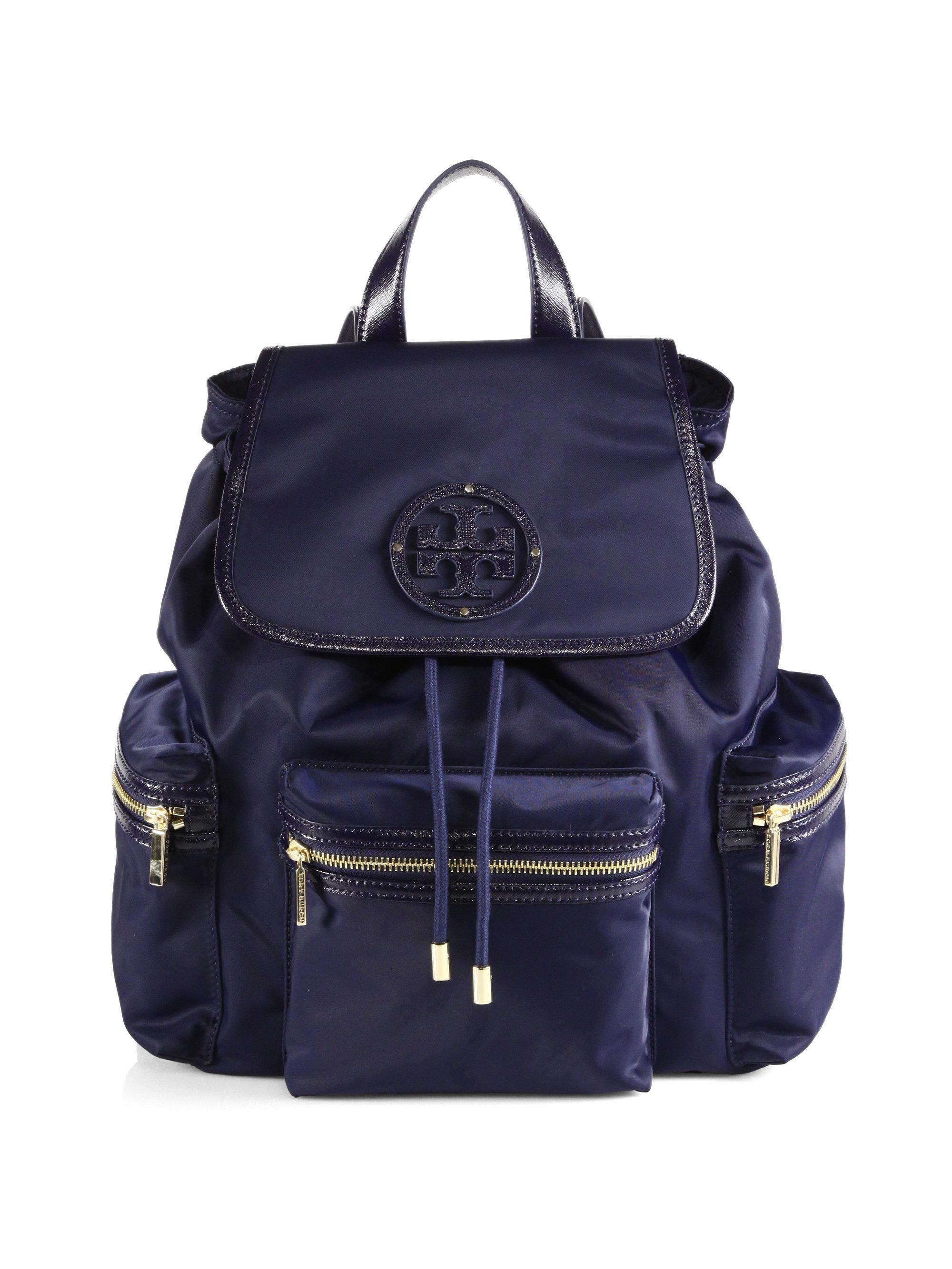 6c50e761bda Lyst - Tory Burch Bill Nylon Backpack in Blue