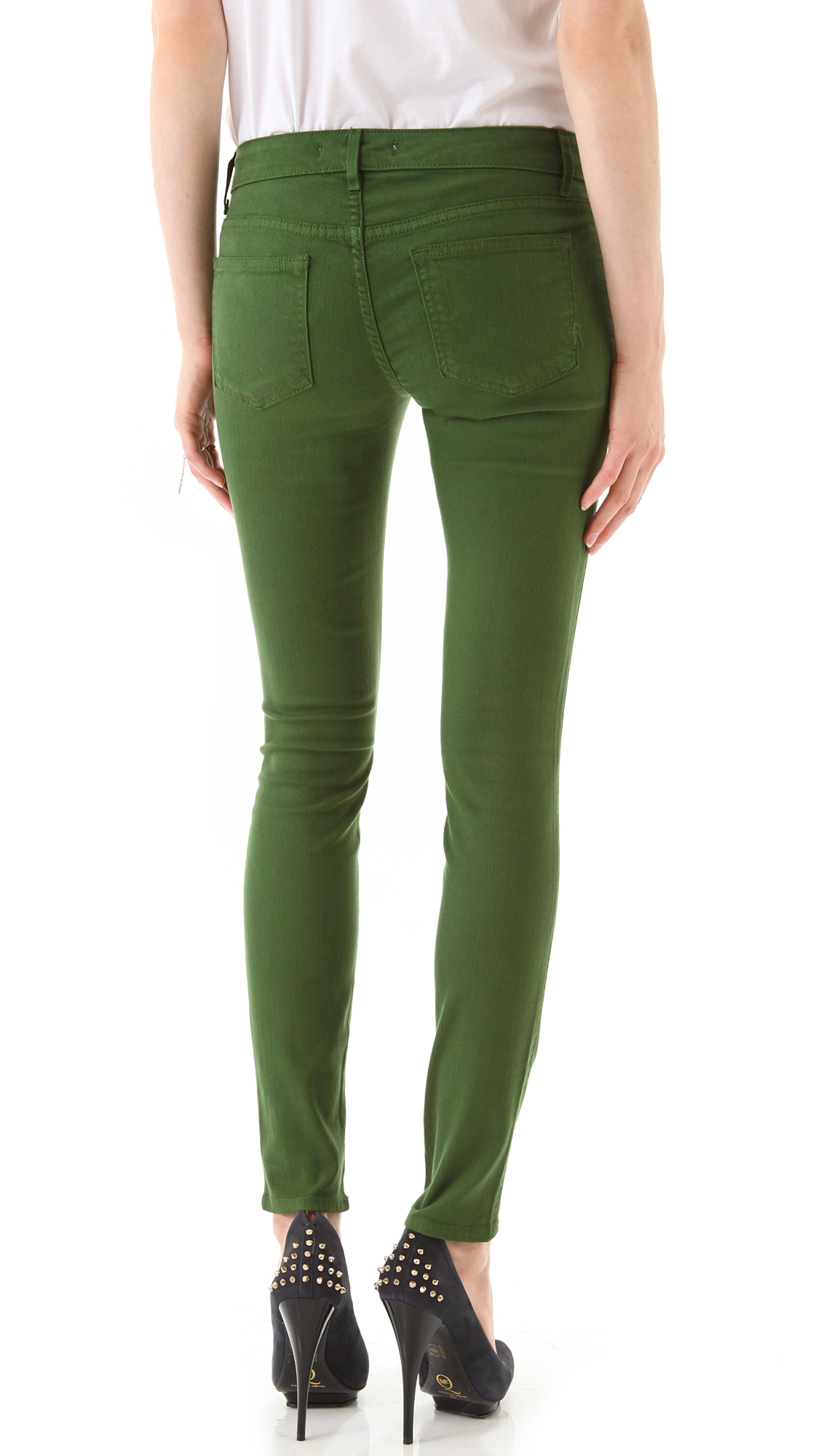 Rich &amp skinny Legacy Stretch Jeans in Green | Lyst