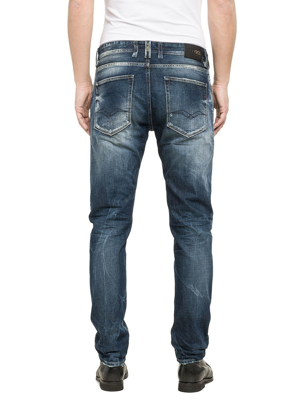 Replay Rbj 901 Tapered Slim Fit Jeans in Blue for Men