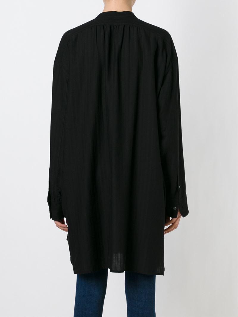 Toile isabel marant 39 nita 39 shirt dress in black lyst for Isabel marant shirt dress