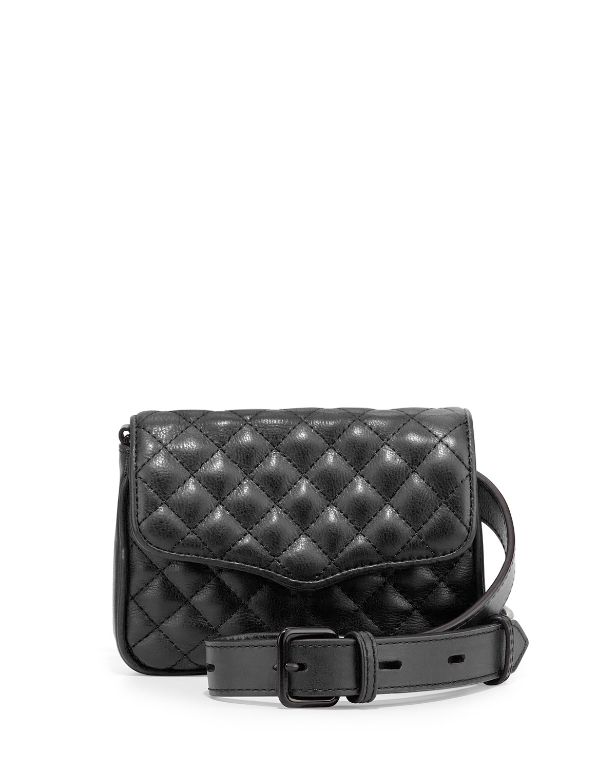 rebecca minkoff affair quilted leather flap top fanny pack