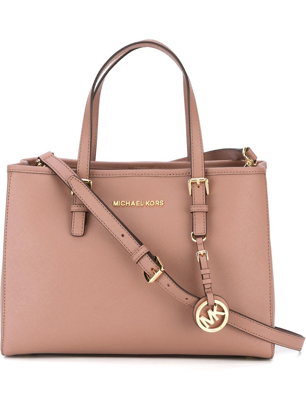c3af0ef73ff1 MICHAEL Michael Kors Jet Set Travel Medium Tote Bag in Pink - Lyst