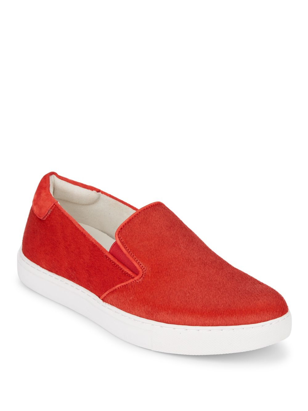 Lyst Kenneth Cole King Calf Hair Slip On Sneakers In Red