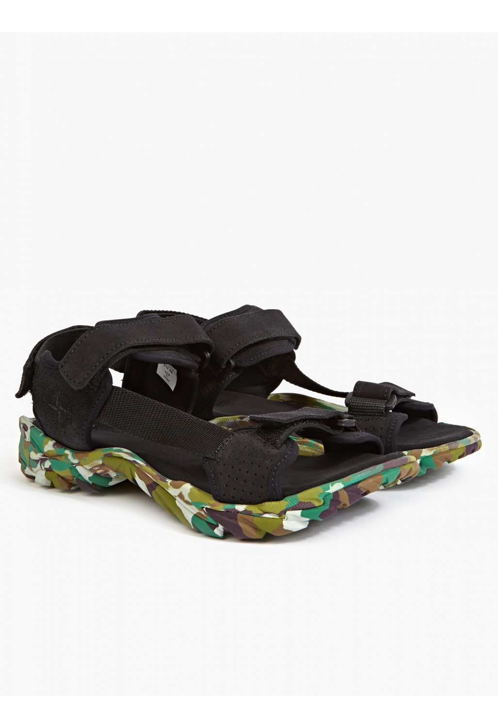 Stone Island Men S Camouflage Suede Sandal In Green For