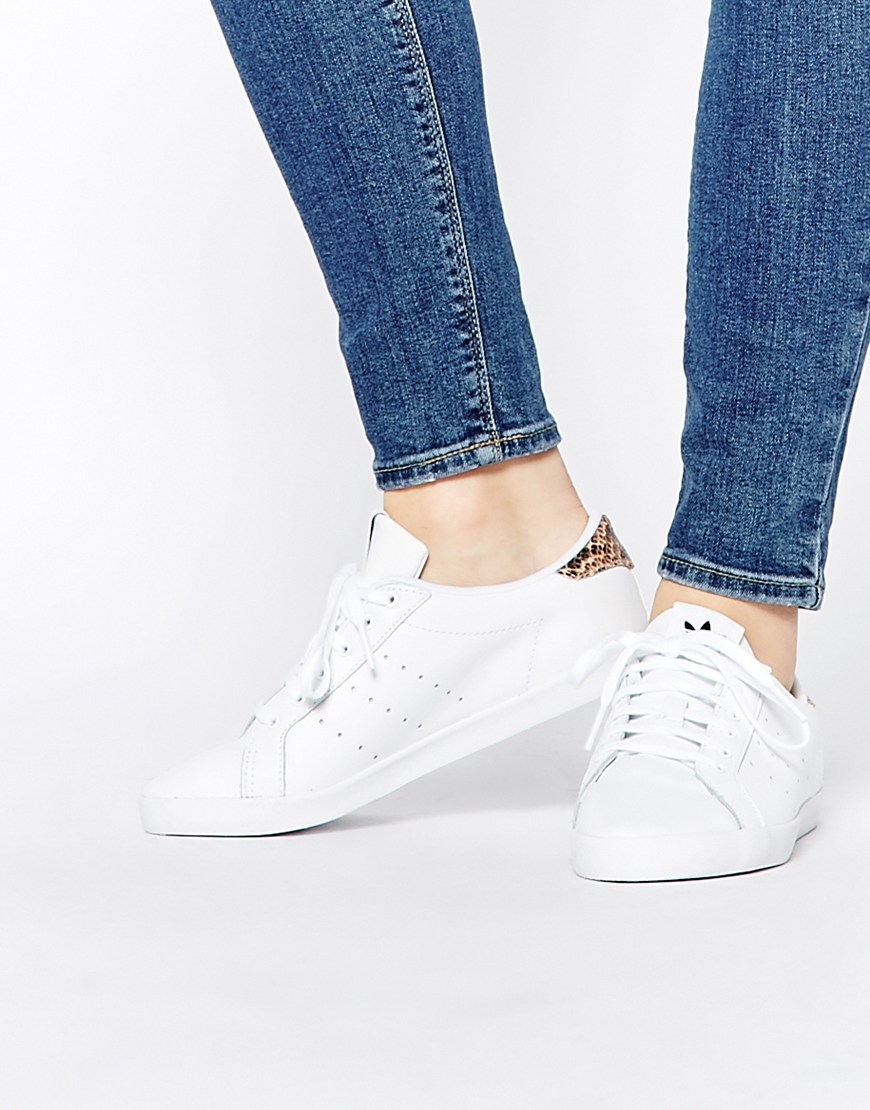 Stan Smith Trainers With Reptile Back Counter - White adidas Originals With Paypal Cheap Price lUJNd