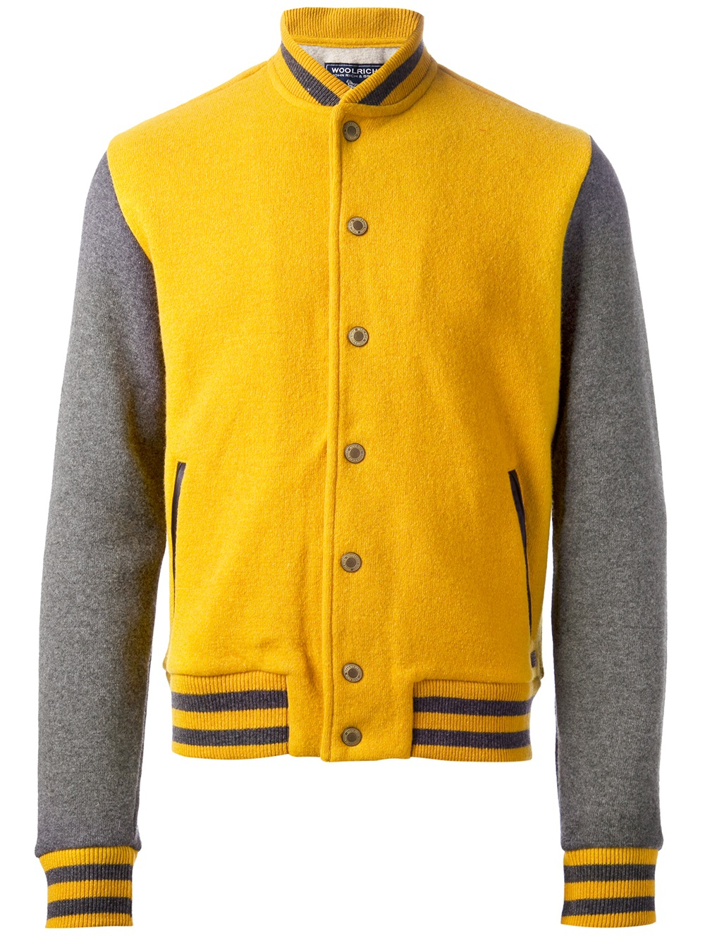 Woolrich Baseball Jacket in Yellow for Men | Lyst