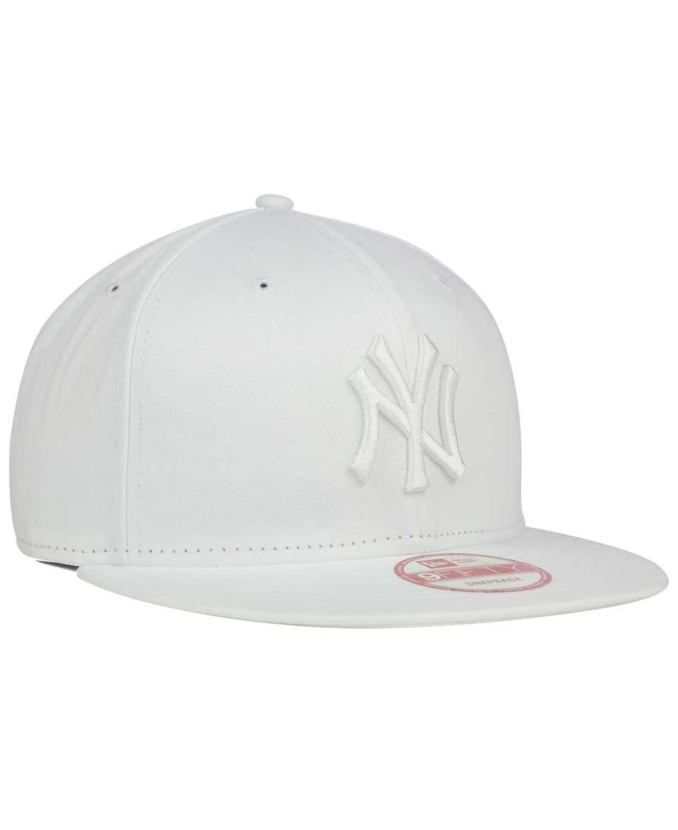 Lyst - KTZ New York Yankees White On White 9fifty Snapback Cap in ... 8042017ca63