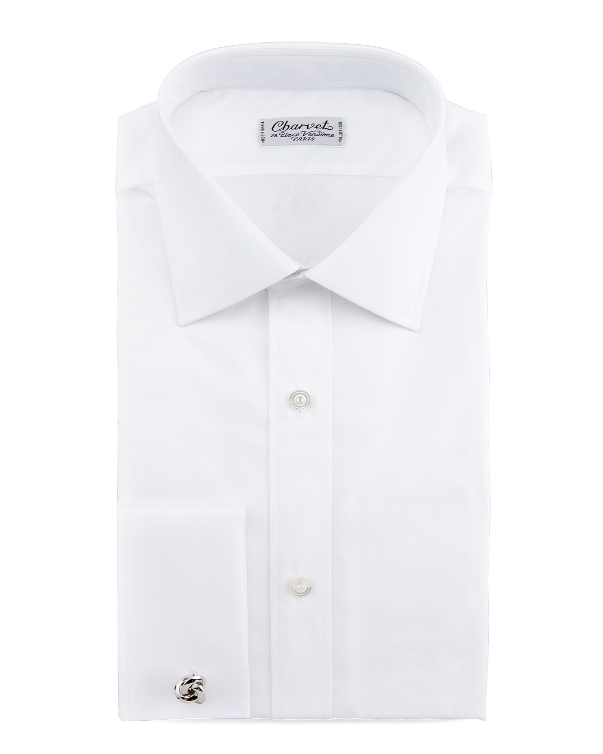 Charvet french cuff dress shirt in white for men lyst for Mens white french cuff shirt