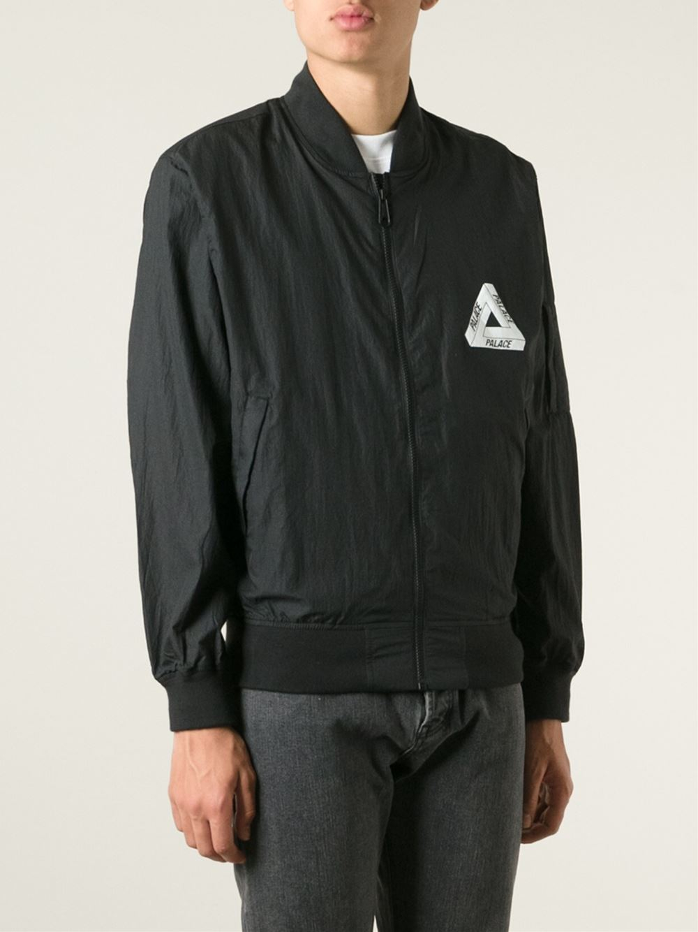Palace Tech Bomber Jacket In Black For Men Lyst