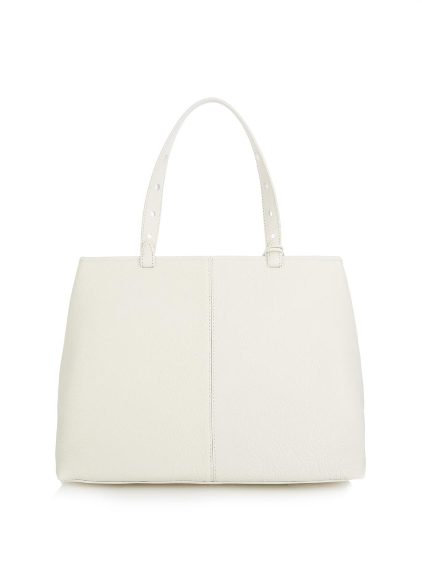 Myriam Schaefer Leather Baby Lord Tote in White