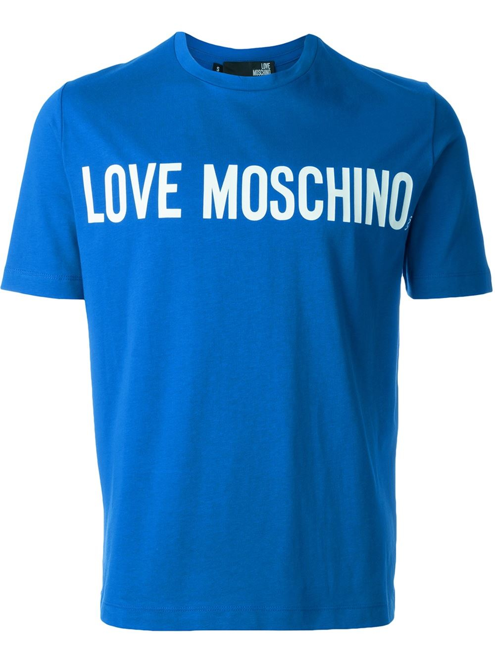 moschino love print t shirt in blue for men lyst. Black Bedroom Furniture Sets. Home Design Ideas