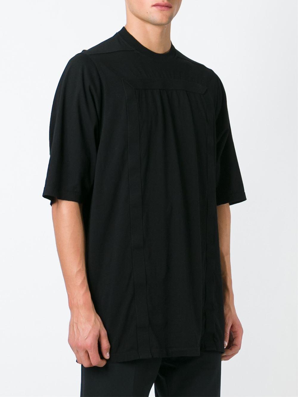 drkshdw by rick owens oversized t shirt in black for men lyst. Black Bedroom Furniture Sets. Home Design Ideas