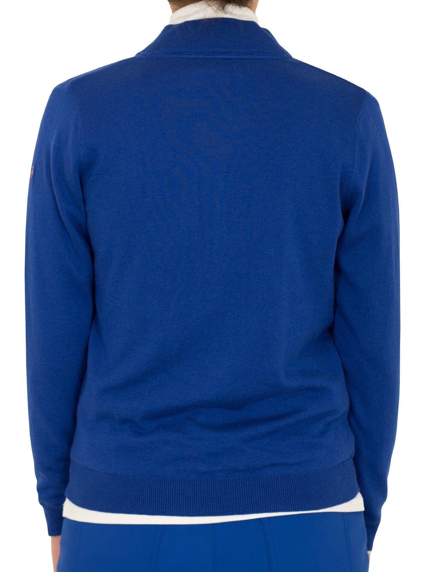 Green Lamb Synthetic Billie Lined Argyle Cardigan in Cobalt (Blue) for Men