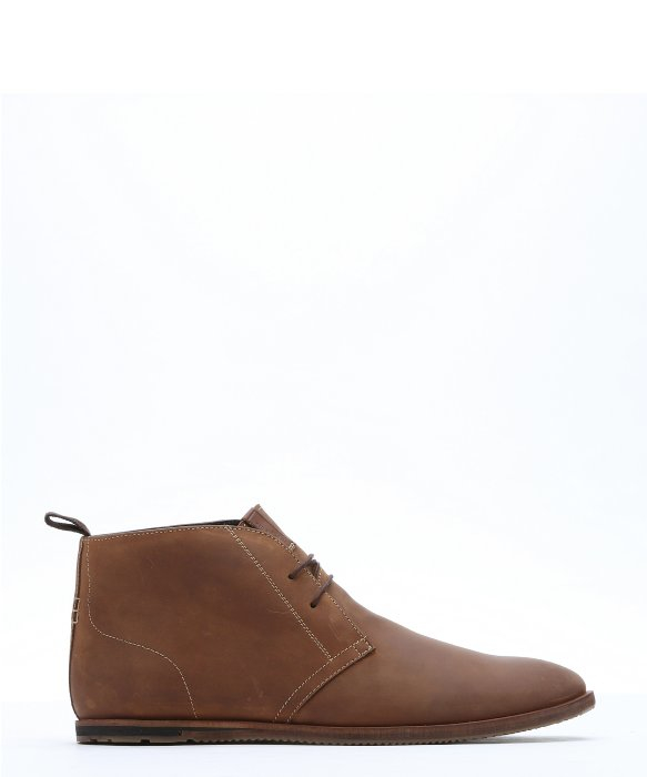 Ben Sherman Brown Leather Aberdeen Lace Up Chukka Boots