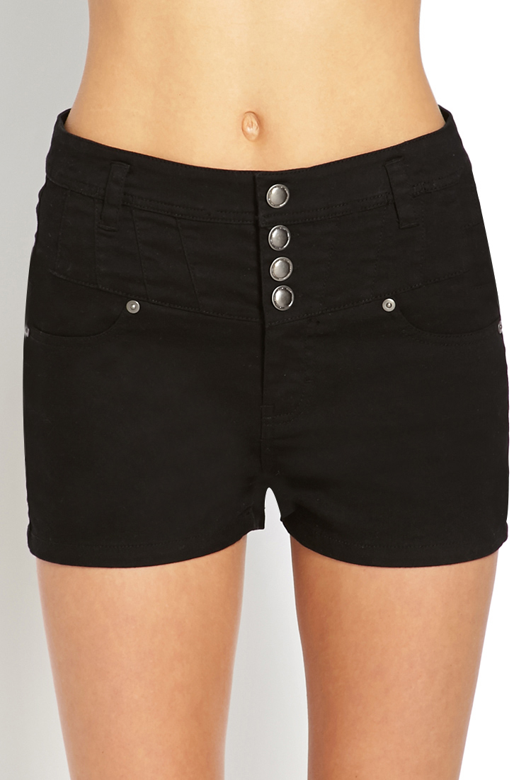 We love our summer denim ripped, frayed, distressed, rolled and looking fierce and with rips in all the right places, the Vinnie high waisted denim shorts in our happy colour black are a must. Made in a stretchy cotton and feature classic 5 pockets, zip with button closure, rips on the front and a .
