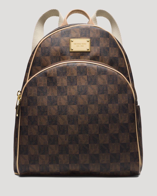 michael michael kors backpack jet set item checkerboard. Black Bedroom Furniture Sets. Home Design Ideas