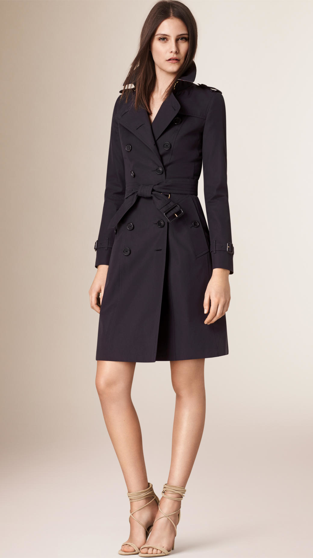 Burberry The Chelsea –long Heritage Trench Coat Navy in ...