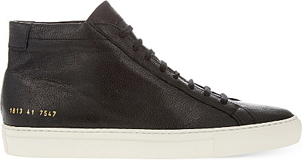 Common Projects Leather Men's Tournament High-top Sneakers in Black White (Black) for Men