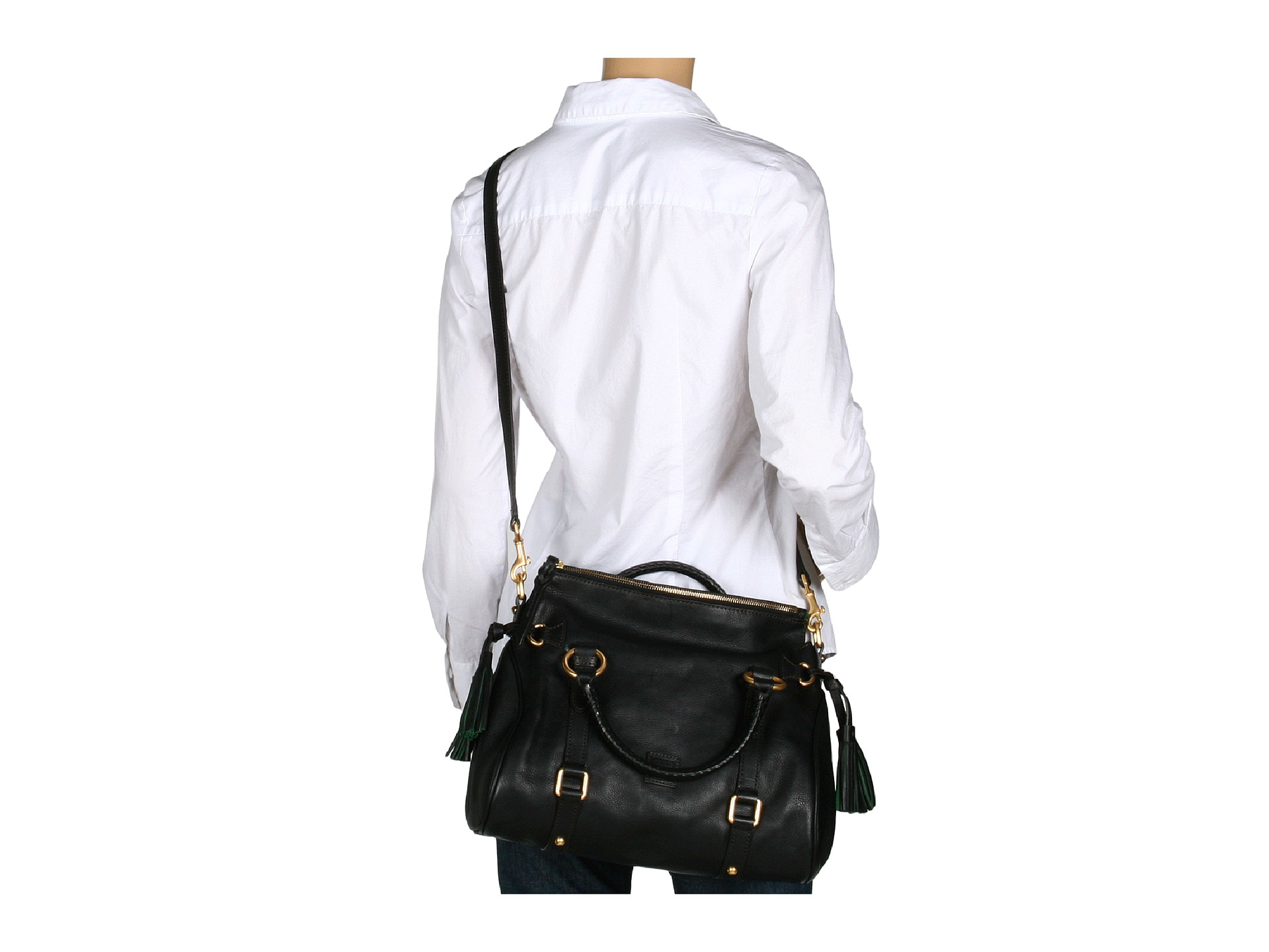 0dc7c1c11f3 Lyst - Dooney   Bourke Florentine Mini Leather Satchel in Black