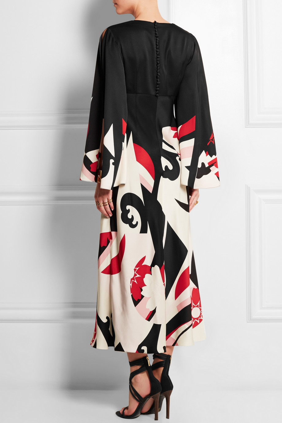 Alexander McQueen Silk Long Dress in Black