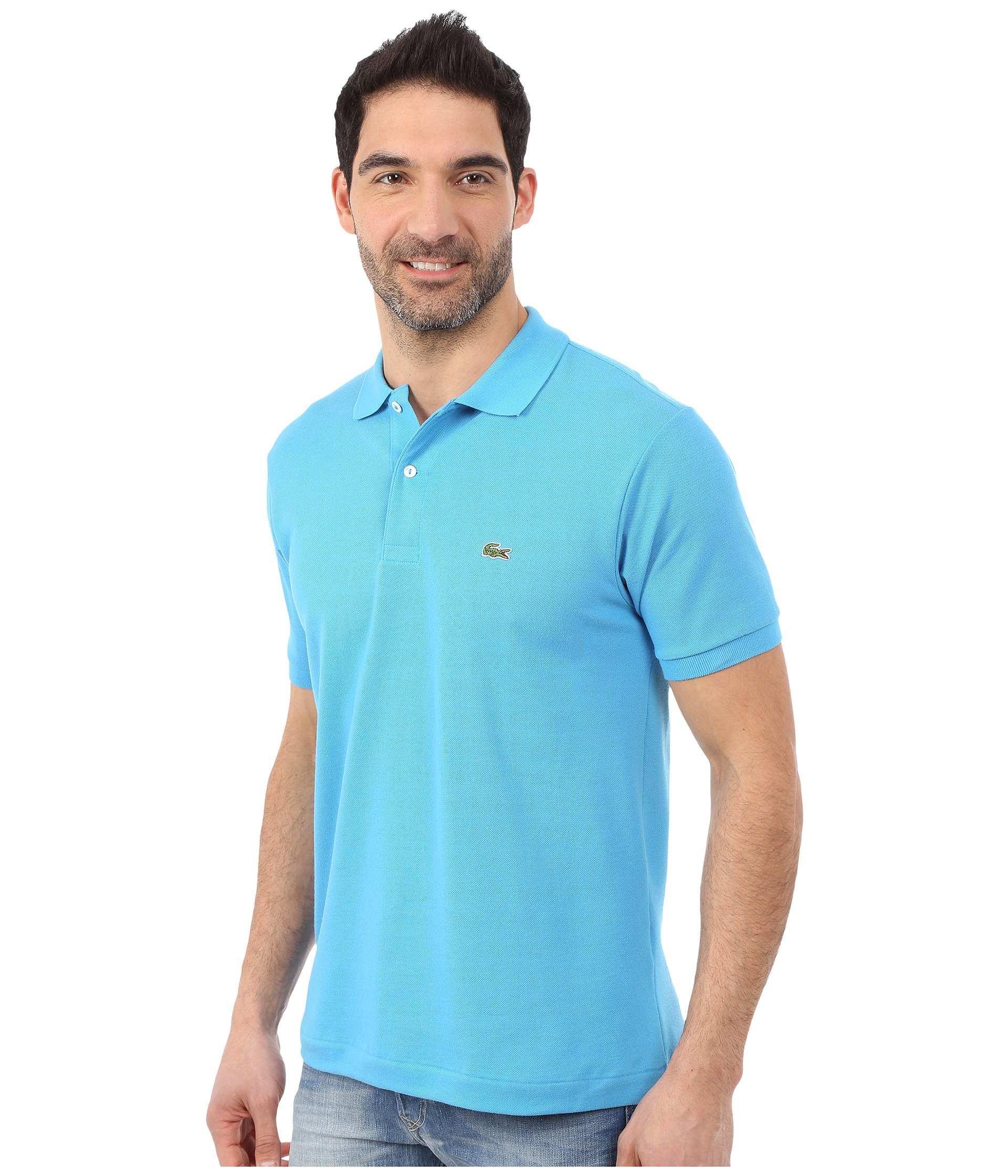 Lyst - Lacoste L1212 Classic Pique Polo Shirt in Blue for Men 0f5cdfee9