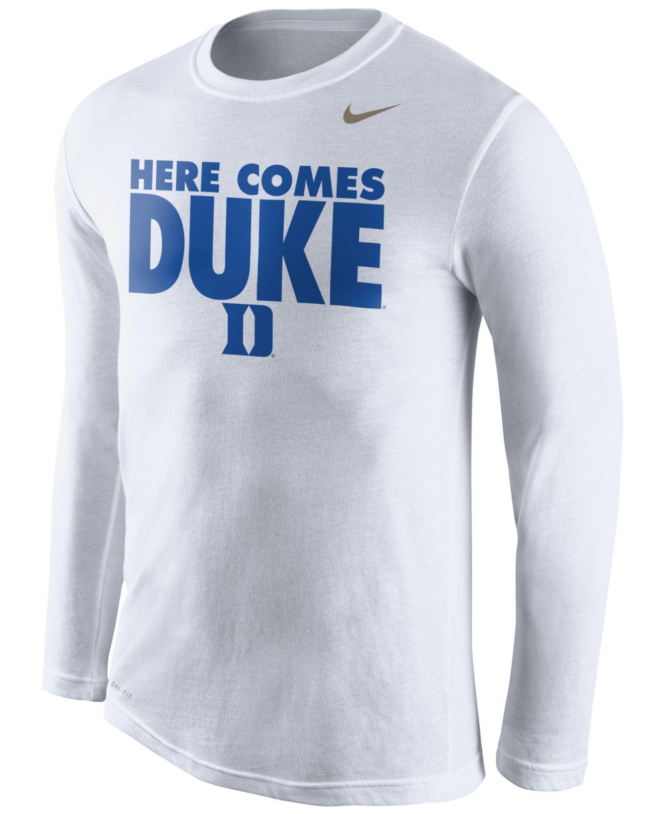 7589c0c96e8 Lyst - Nike Men'S Long-Sleeve Duke Blue Devils Dri-Fit Warmup Legend ...