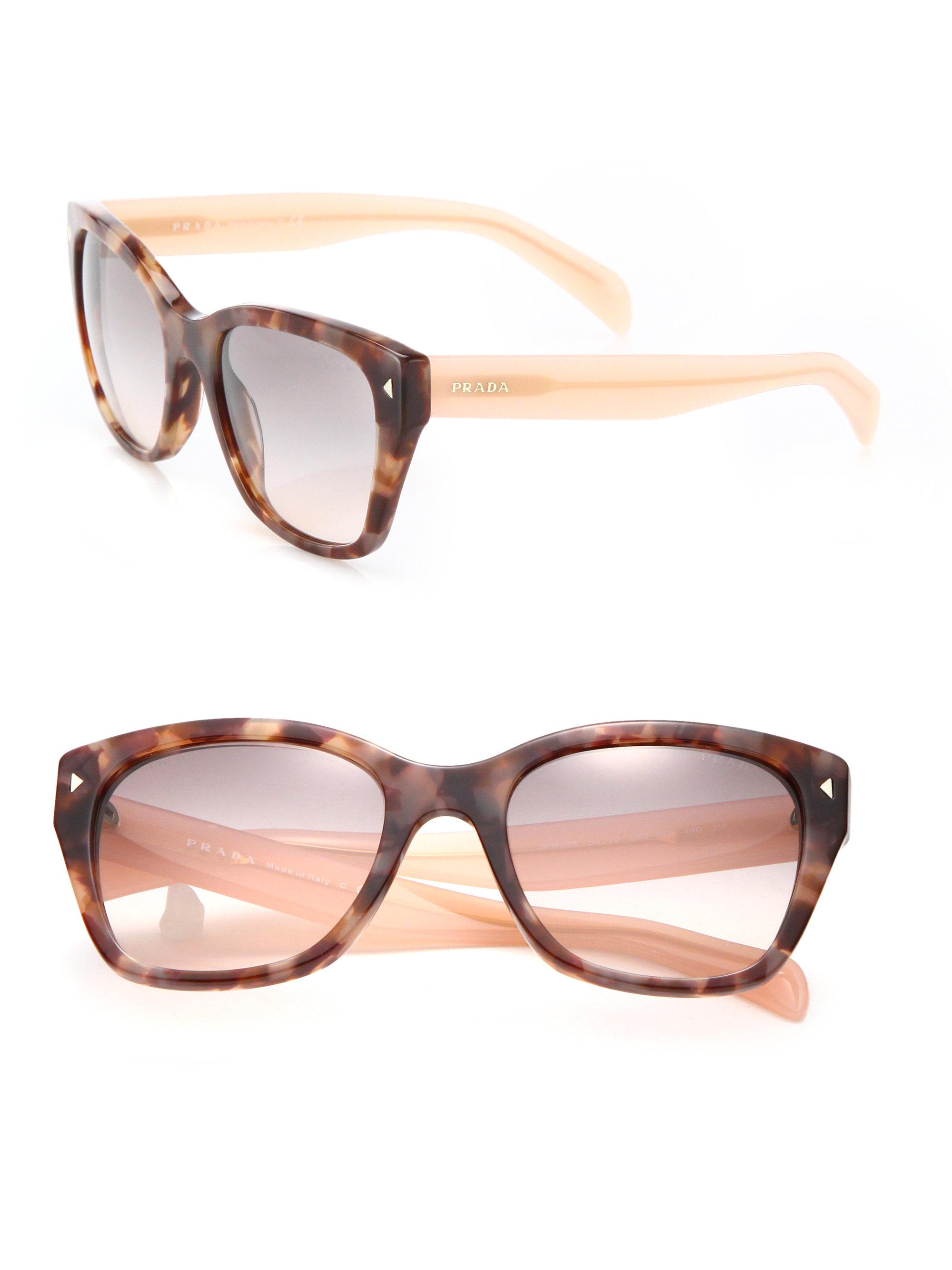 1e1acd5b00 ... spain lyst prada 54mm square acetate sunglasses in pink d7e51 07030