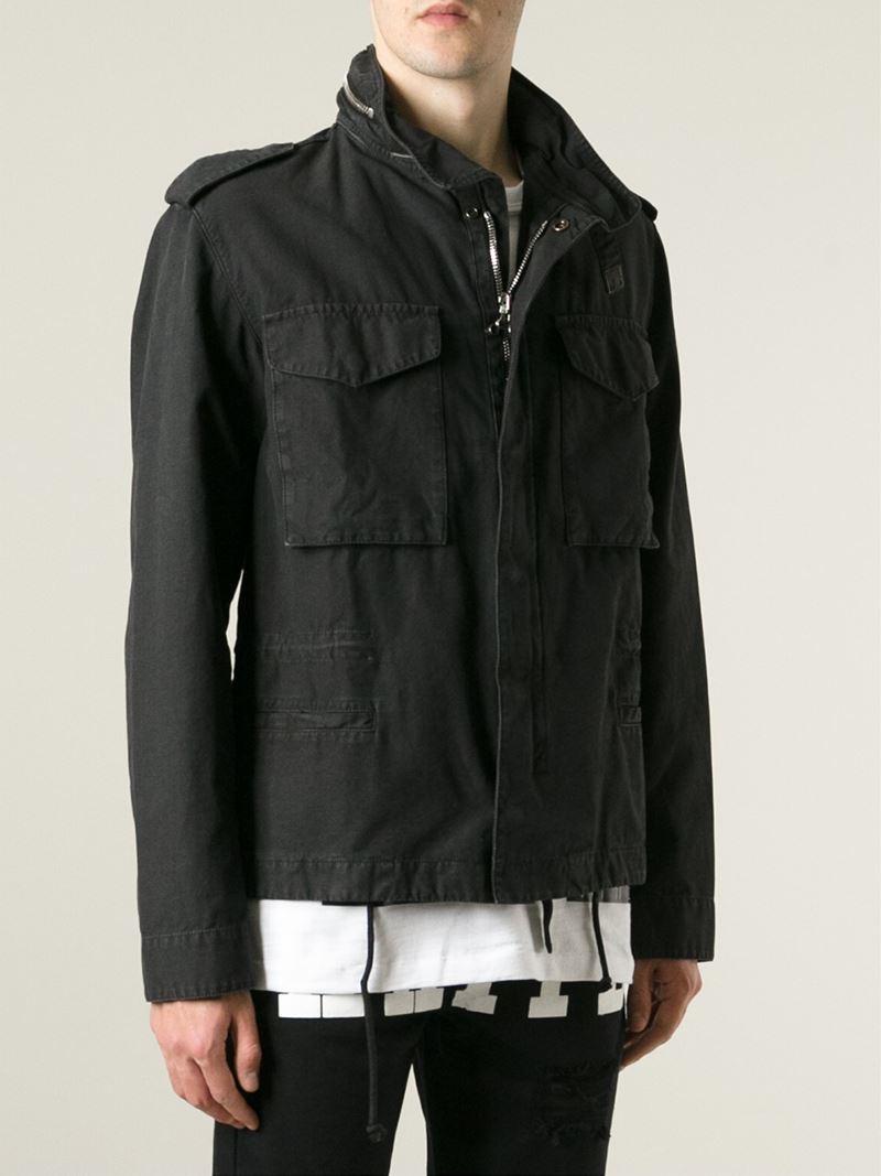 off white c o virgil abloh 39 basic m65 39 military jacket in. Black Bedroom Furniture Sets. Home Design Ideas