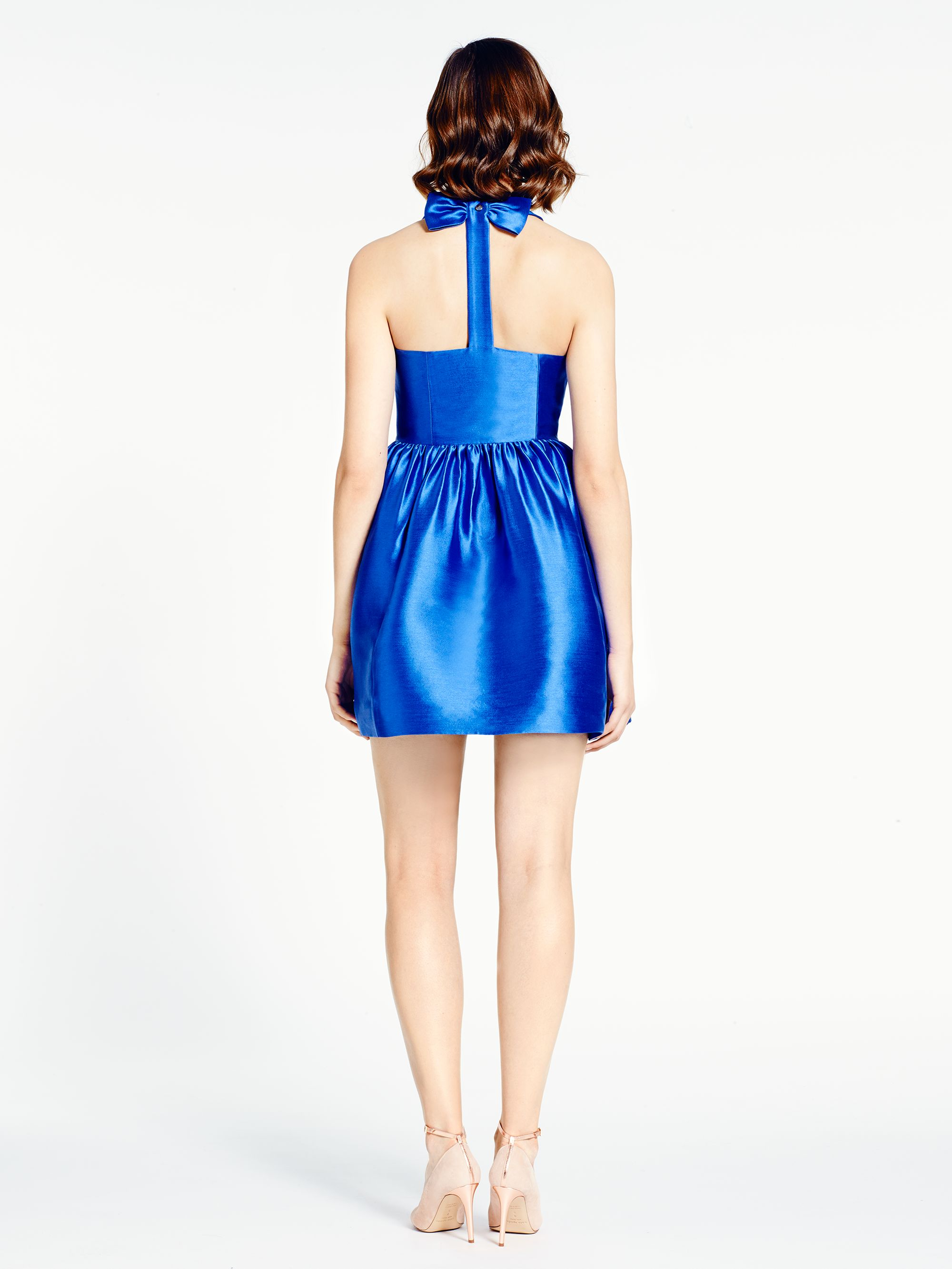 Kate Spade Bow Back Fit And Flare Dress In Blue Lyst