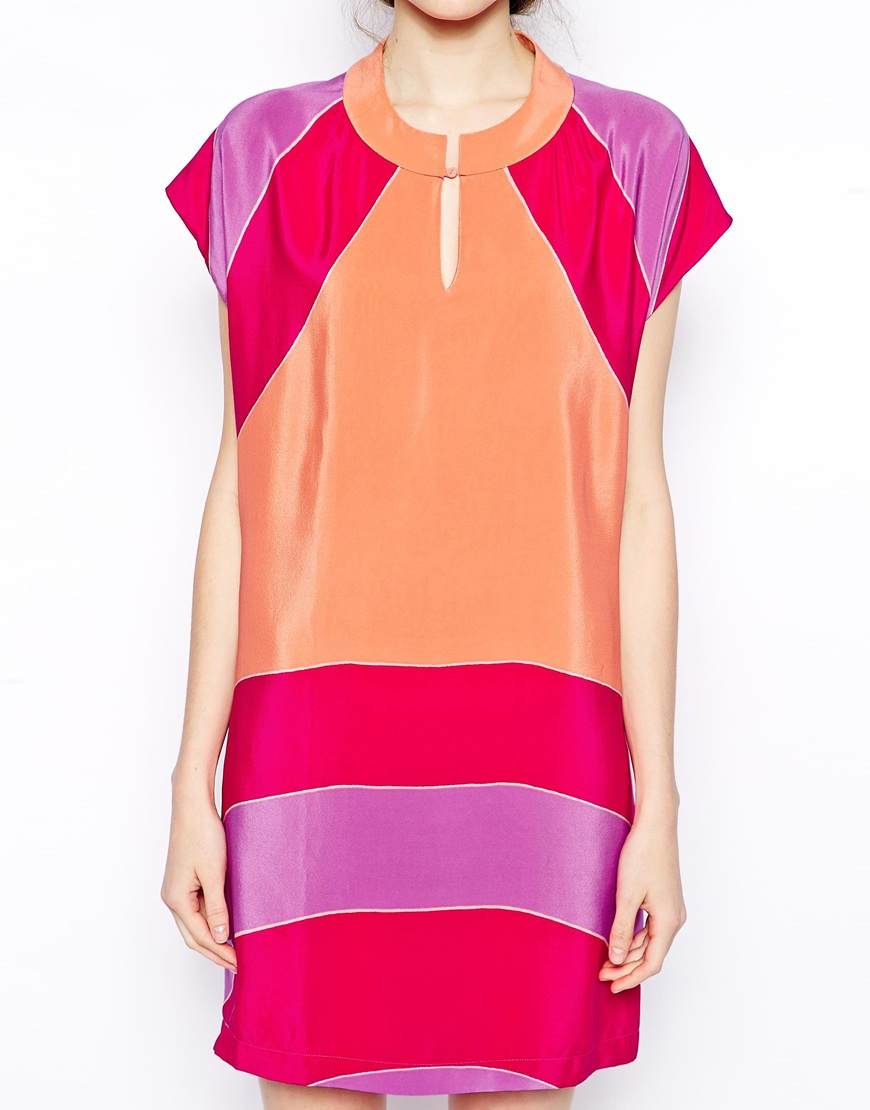 Sale 100% Authentic Silk color dress See By Chloé Fashion Style Cheap Price Cut-Price Cheap Top Quality r5mY0