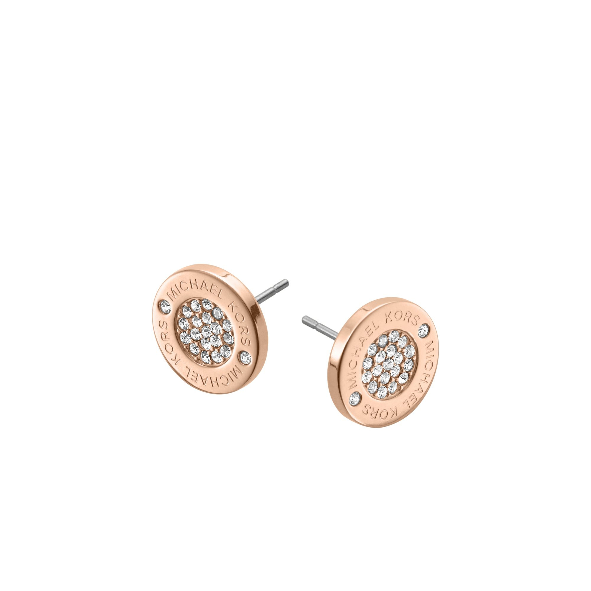 rose gold michael kors earrings beautify themselves with. Black Bedroom Furniture Sets. Home Design Ideas