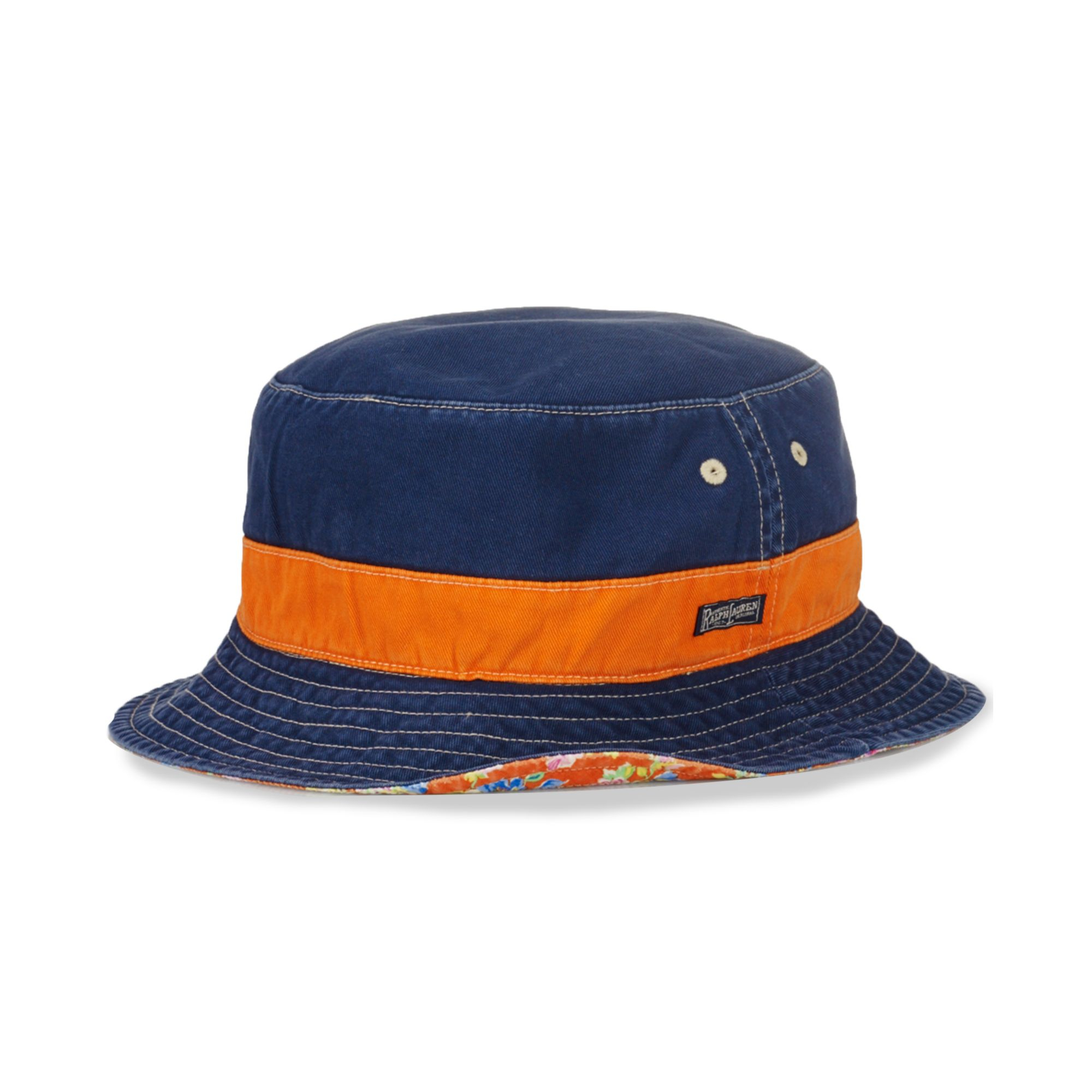 92fe10bc7ea Lyst Ralph Lauren Polo Big And Tall Reversible Bucket Hat In Blue