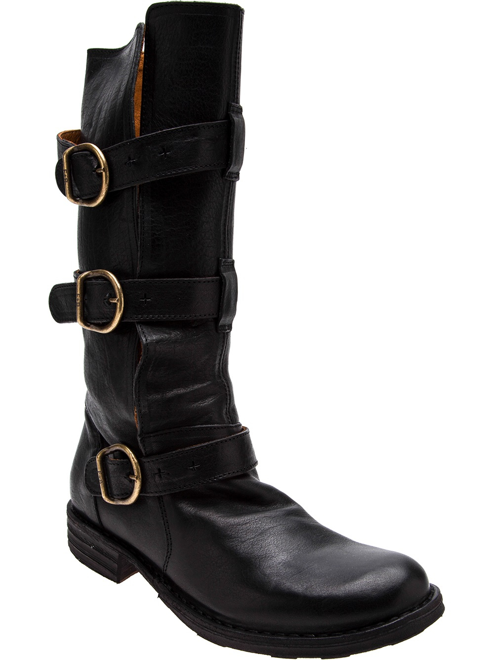 fiorentini baker three strap high boots in black lyst. Black Bedroom Furniture Sets. Home Design Ideas