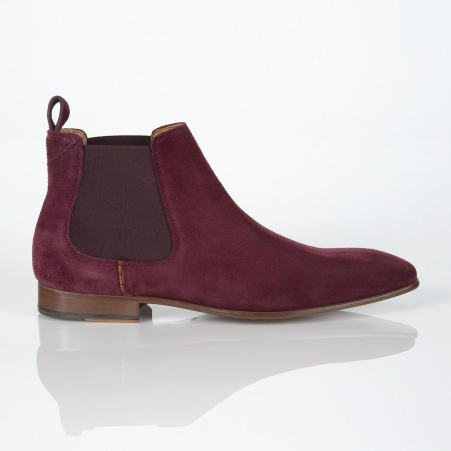 paul smith burgundy suede falconer chelsea boots in