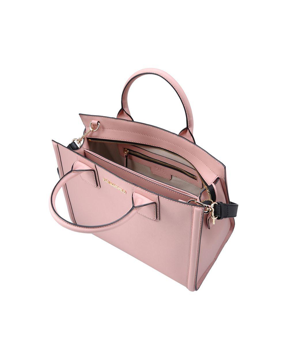Karl Lagerfeld Leather K/klassik Tote in Pink
