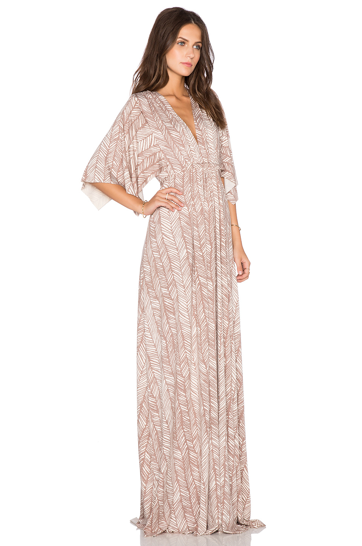 a964f8ed48a Rachel Pally Long Caftan Dress in Brown - Lyst